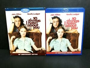10 Things I Hate About You (Blu-ray 2010) w/ OOP Rare Slipcover 10th Anniversary
