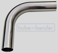 """90 degree 38mm 1.5"""" 1.5D Mandrel Exhaust Bend 304 Stainless Steel Dull Polished"""
