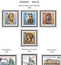 GERMANY BERLIN  STAMP ALBUM PAGES  CD 1948-1990 (76 color illustrated pages)