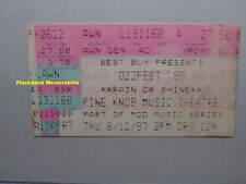 OZZFEST '97 Concert Ticket Stub DETROIT PINE KNOB Megadeth TOOL Motorhead OZZY