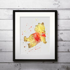 Winnie the Pooh disney Print poster painting watercolor wall Art - DIGITAL file