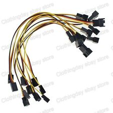 10pcs 30cm 1ft  Molex 3 Pin Female to 3pin Male Fan Power Extension Adapter Wire