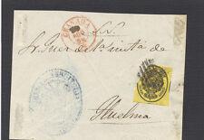 Huelma ( Jaeén). Frontal con sello. 1/2 onza del 27 de Agosto de 1856.