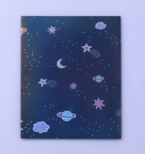 6 PACK More Than Magic Dotted Space 2 Pocket Paper Folders, Navy Blue