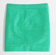 Women's J.CREW Kelly Green Dot Dot Dash Mini Skirt White Holiday Sz 0 #42219