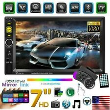 "7"" 2Din Car Stereo Radio Bluetooth Mp5 Player Touch Screen Mirror Link SD TF HD"