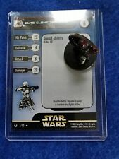 Star Wars Miniaturas-Elite clon Trooper 3/60 + Tarjeta-Universo WOTC