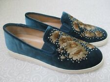 $109 VINCE CAMUTO BRANDIA PEACOCK EMBROIDERED VELVET SNEAKERS SIZE 11 W - NEW