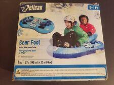 NEW IN BOX Pelican International BearFoot Bear Foot Inflatable Snow Sled Tube