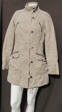 ZARA Love TRF Women's Khaki Cotton Twill Insulated Zip Military Jacket Coat S M*