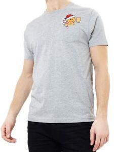 Mens Christmas T Shirt Gingerbread Man Xmas Size XS S M L XL White Novelty