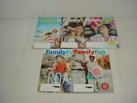 Lot of 5 Family Fun Magazines 2016 to 2017