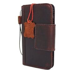 genuine vintage real leather Case for apple iphone 7 book wallet magnetic Davis