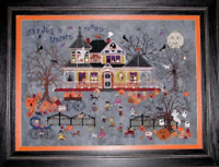 PRAISEWORTHY STITCHES Cross Stitch Pattern Chart SEEDY PUMPKIN COTTAGE