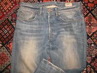 rare G-STAR Jeans blau vintage used look gstar pants straight leg Gr. 31/36