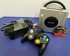Nintendo GameCube Limited Edition Platinum Console Controller Bundle Tested Work