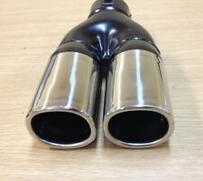 """STAINLESS STEEL DUAL 2""""X 2.5"""" OUTLET/SINGLE 2.25"""" INLET SQUARE EXHAUST TIP 7401"""