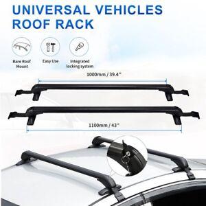 "43.3"" Universal Roof Rack Cross Bar Window Door Frame Clamp Pickup Truck Sedan"