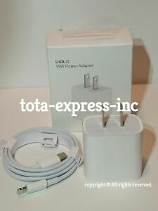 Original 18W Fast Wall Charger USB-C Power Adapter PD Cable Cord iPhone 11 Pro