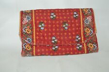 Vera Bradley Wallet Clutch Organizer Bag Bi-fold in Provincial Red Rare Retired