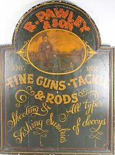 D3-012. ADVERTISING POSTER. POLYCHROME WOOD. R. PAWLEY AND SON. 1857.