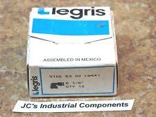 """10 pcs  Legris    3102 53 00    1/8""""  to  1/8""""   tube to tube elbows"""
