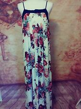 Xhilaration maxi summer dress size medium Womens rayon floral NWT