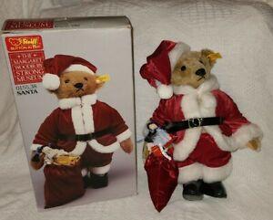 Steiff Santa Bear In Box, #0155,38, Margaret Woodbury Strong Museum