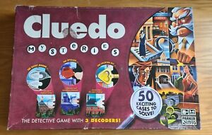 Complete Cluedo Mysteries Board Game - The Detective Game with 3 Decoders - Good
