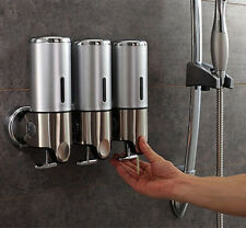 DIY Wall Mount Soap Sanitizer Bathroom Shower Shampoo Dispenser Home 3*500ml