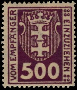 """DANZIG J12 - Numeral and Coat of Arms """"Postage Due"""" (pb19264)"""