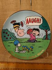 Peanuts Magical Moments Plate 'You Blockhead, Charlie Brown!' Snoopy Lucy