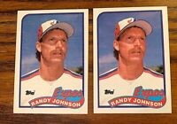 1989 Topps #647 Randy Johnson RC - Mariners (2)
