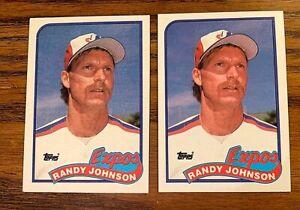 1989 Topps #647 Randy Johnson RC - Mariners (2)