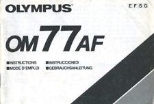 Olympus OM77AF Instruction Manual (English French Spanish German)