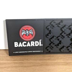 Bacardi Non-Slip 3D Rubber Beer/Drinks Mat / Bar runner - Man Cave- 60cm X 9cm