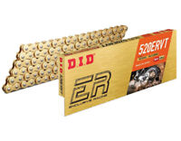 DID ERVT 520 RACE GOLD/GOLD MOTORCYCLE CHAIN ($175.99 RRP) 120 Links Clip Link