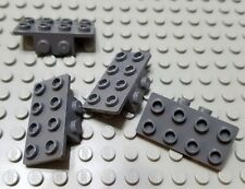 New LEGO Lot of 4 Dark Bluish Gray 1x2 - 2x4 Space Brackets Parts and Pieces