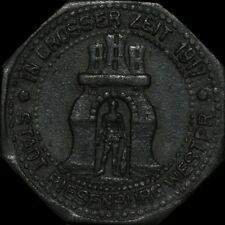 NOTGELD: 5 Pfennig 1917, Zink. F 448.1d. RIESENBURG / WESTPREUSSEN ⇒ PRABUTY.