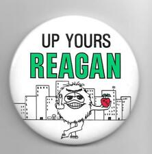 UP YOURS REAGAN middle finger NYC pinback button pin