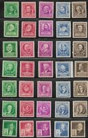 Mr B's 1940 Famous Americans - 35 Stamps #859 - 893 MNH/OG - Free Shipping!