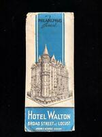 Hotel Walton Brochure - Philadelphia - Broad Street & Locust - 1930's Pamphlet