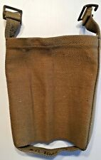 WWII BRITISH ARMY P37 PATTERN CANVAS WATER BOTTLE CARRIER 1943 (EXCEL. COND.)