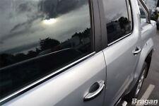 To Fit 2016+ Volkswagen VW Amarok Window Trim Chrome 4 Piece Set
