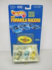 Hot Wheels MINI FORMULA RACERS 1989Mattel 1955 Chevy 1934 Ford -Firebird TransAm