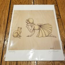 """Hush Kitty"" by Lisa Chow Signed And Numbered 16/50 Art Print"