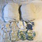 Lot 44 Prefolds Cotton & 9 Bummis Super Whisper Wrap Size S small