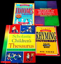 4 Scholastic Reference Books Grades 4-6 Ages 9-12 Teacher Resource Home School