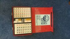 Hongkong Mahjong tile set in case, unused,. tiles still in original wrapping.