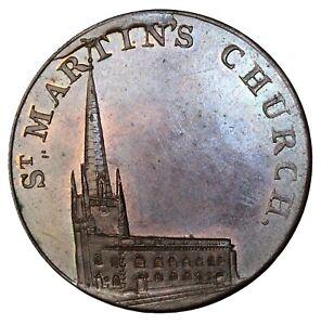 England Warwickshire Kempson's 1/2 Penny Conder Token St Martins Church D&H-154